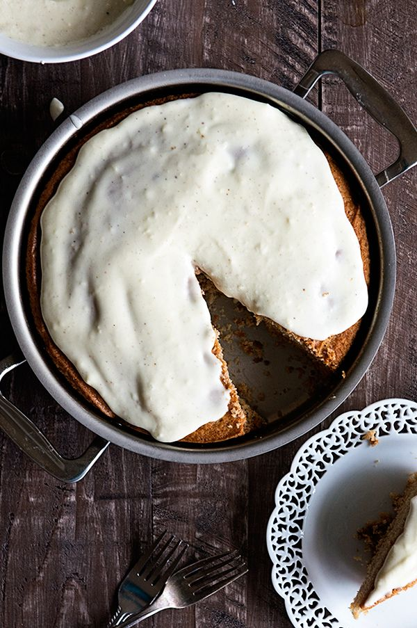A simple Spiced Eggnog Snack Cake that even non-eggnog lovers will enjoy! A festive treat full of our favorite spiced flavors of the season!