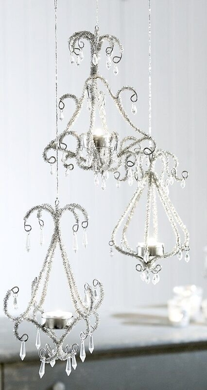 cute chandeliers from Lisa Hewitt's craft board