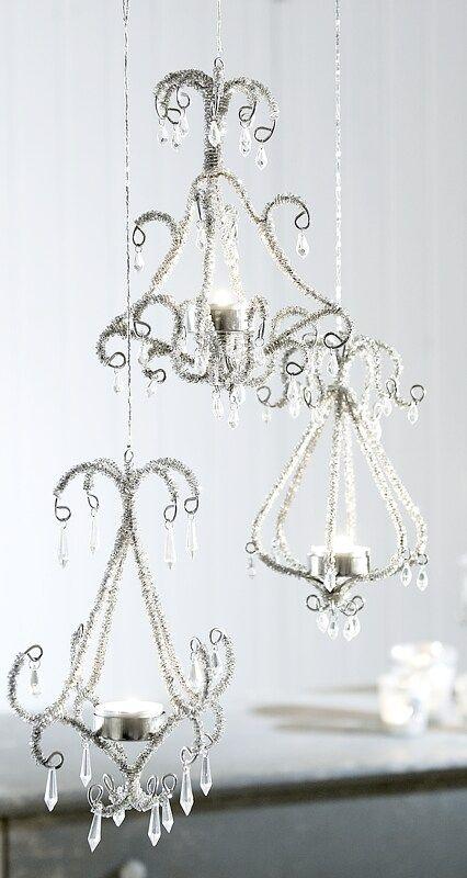 cute chandeliers from Lisa Hewitt's craft board