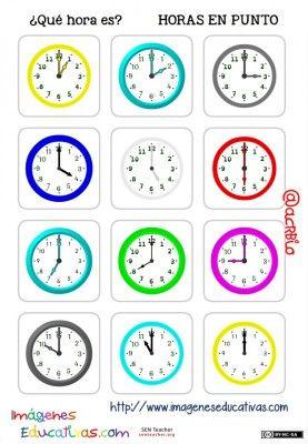 fichas de relojes analógicos. (2)