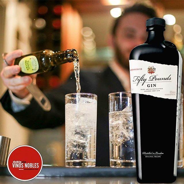 Hay parejas que calzan a la perfección. Fentimans Ltd y #Fiftypounds se unen para dar por resultado el mejor #gintonic www.vinosnobles.com #VinosNobles
