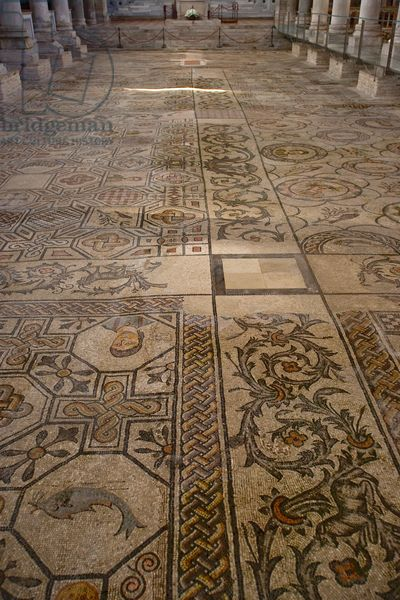 Detail of the Mosaics of the Basilica di Santa Maria Assunta, Aquileia, Udine, Italy (photo)