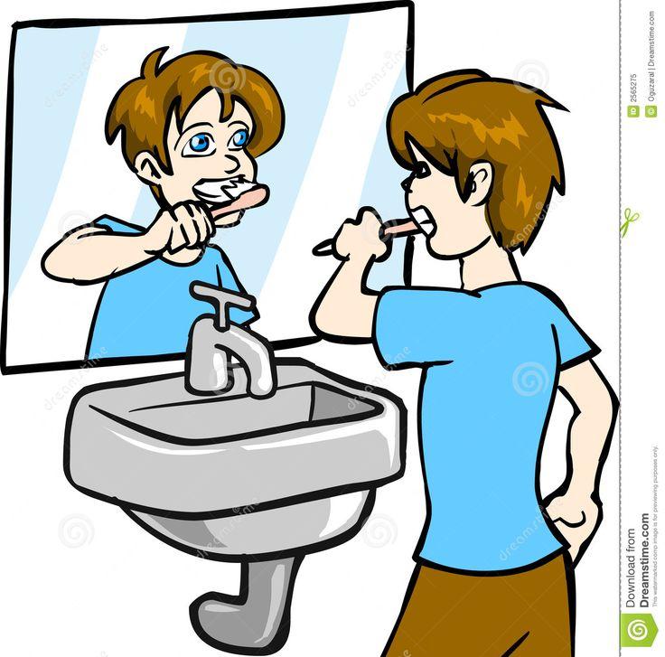 Boy Brushing Teeth Royalty