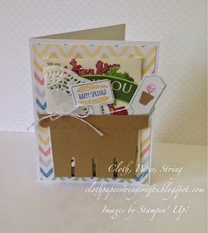 Cloth, Paper, String Crafts: Is it Spring Yet? Berry Basket Bigz die cut Stampin' Up!