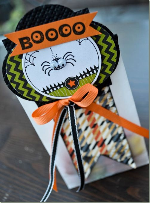 Cute bag made with Stampin' Up!'s Ghoulish Googlies Designer Kit.: Cards Tags Boxes, Halloween Cards, Cute Halloween, Cute Ideas, Cards Halloween Fal, Cards Crafts Fall Halloween, Boxes Bags, Halloween Treats, Dsp
