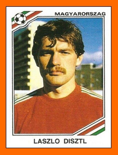 Laszlo Disztl of Hungary. 1986 World Cup Finals card.