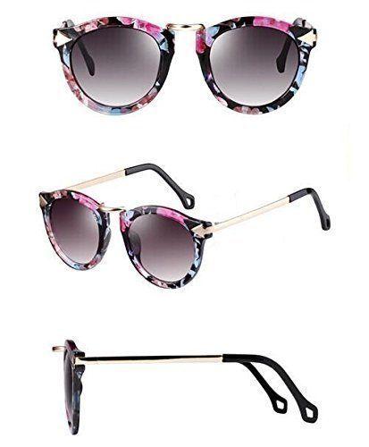 Métal / grand cadre / lunettes de soleil / ronde rétro / lunettes de soleil / décoration / lunettes de soleil , 2