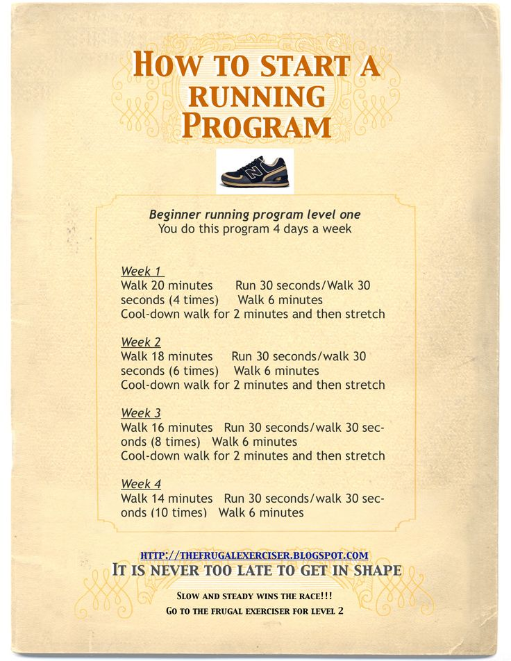"Overweight, older or recovering from an injury, take a look at this ""How to start a running program""."