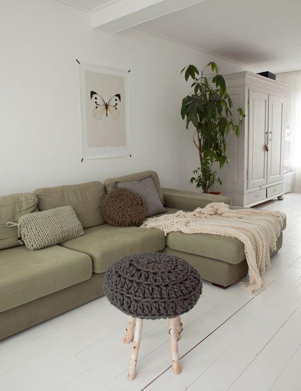 Stoere kleuren, natuurlijke materialen, minimalistisch
