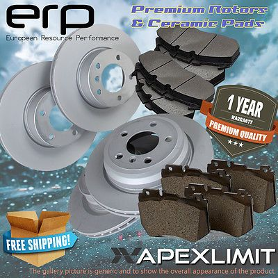 F+R Premium Rotors & Ceramic Pads for 2012-2014 Nissan NV 3500 w/8 Lugs