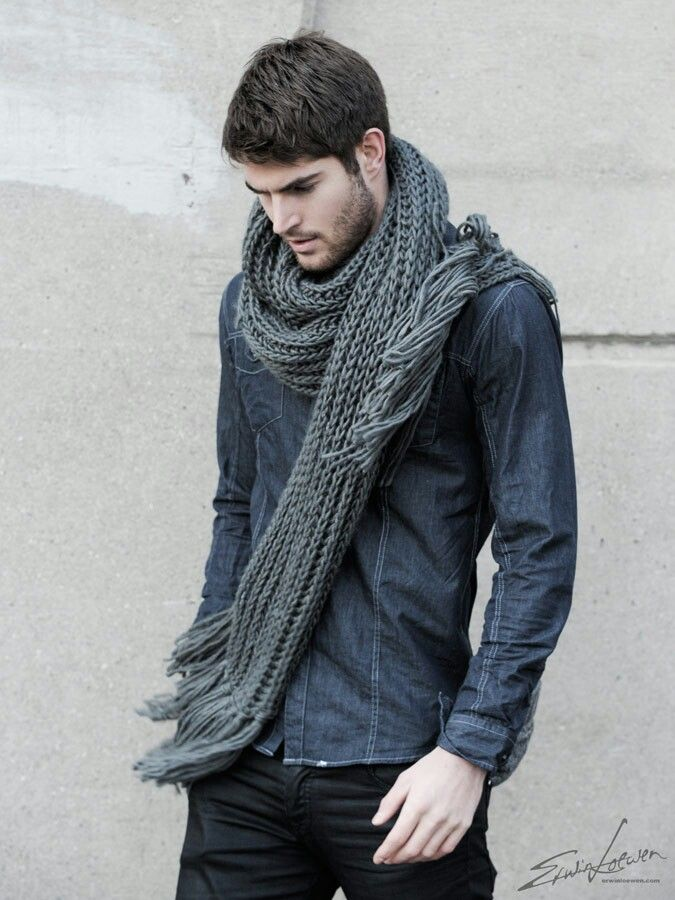 Mens Fashion Scarf Shirt Fall 2013 | HOMBRES BIEN VESTIDOS | Pinterest | Scarfs Scarf Shirt ...