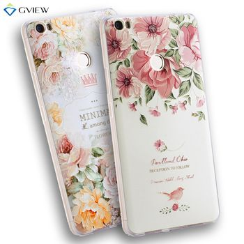 "High Quality Soft Ultra Thin TPU 3D Relief Painting Stereo Feeling Back Cover Case For Xiaomi Mi Max 6.44"" Phone Bag Coque"