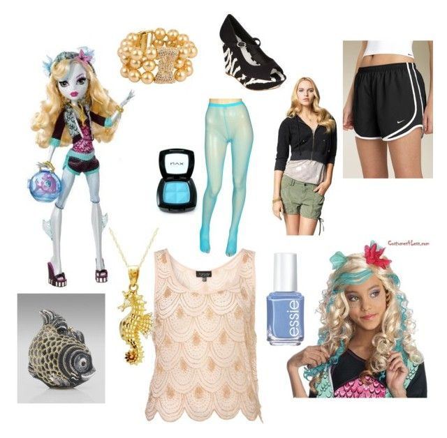 """""""Lagoona Blue"""" by flyingtoaster ❤ liked on Polyvore featuring mode, Promiscuous, NIKE, Judith Leiber, Juicy Couture, Red Herring, Essie, NYX, Kate Spade en blue"""