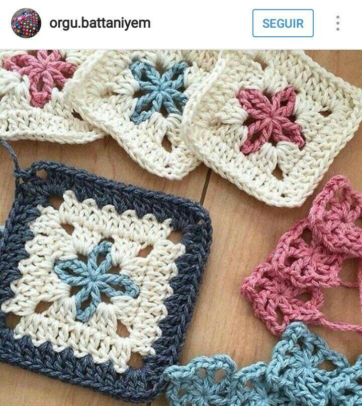 Atractivo Granny Patrón De Crochet Raya Imágenes - Manta de Tejer ...