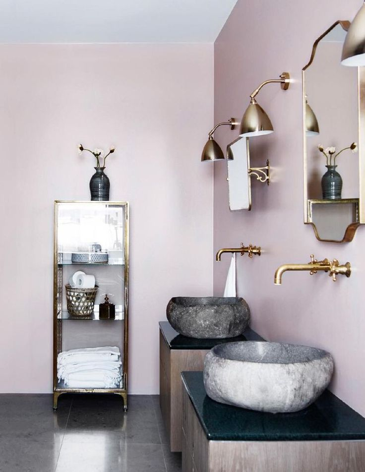 Fancy Bad Toiletten Kleines Bad Badezimmer Badezimmer Ideen Bad renovationen Sommer Heimtextilien Pink Bathroom Designs
