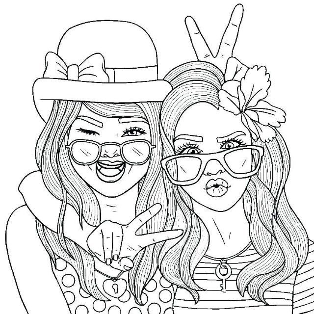 Coloriage Pour Bff Cool Coloring Pages Barbie Coloring Pages People Coloring Pages
