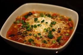"Paula Deen's Taco Soup Recipe""..I add 4 cups beef stock..not chicken."