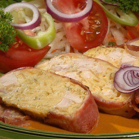 Egy finom Sajtos csirkemell őzgerincben sütve ebédre vagy vacsorára? Sajtos csirkemell őzgerincben sütve Receptek a Mindmegette.hu Recept gyűjteményében!