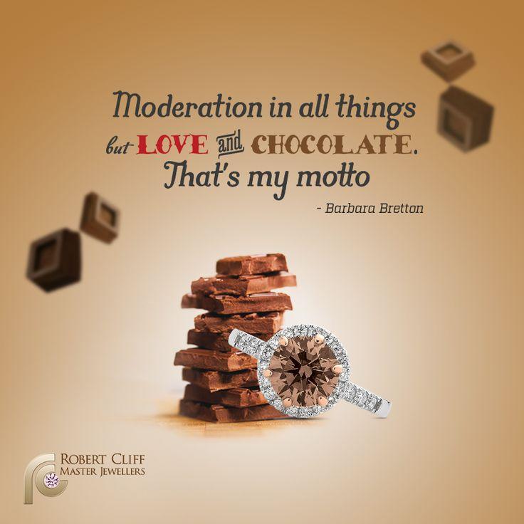 Hmm... #Diamonds & #Chocolate... Perfect Combination!  #ChocolateDiamond #Quote #Jewellery #jewelry #motto