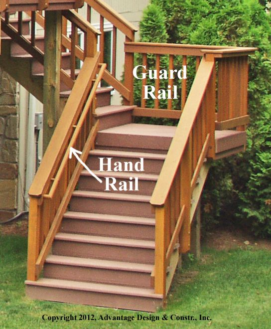 How to make handrail for deck steps