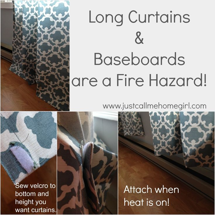 No More Fire Hazard Curtains Baseboard Heating Homemade