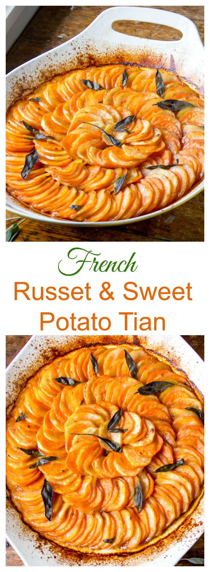 Russet and Sweet Potato Tian with Brown Butter, Apple Cider Syrup, and ...