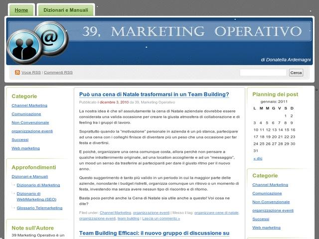 Tecniche di marketing operativo