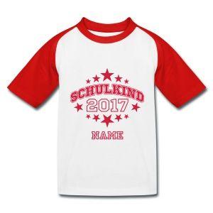 T-Shirt mit individuellem Namen - Kinder Baseball T-Shirt