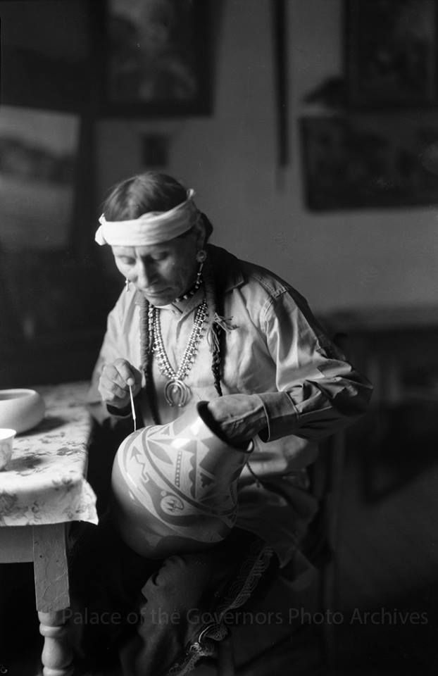 Potter Julian Martinez, San Ildefonso Pueblo, New Mexico Photographer: T. Harmon Parkhurst Date: 1925 - 1945? Negative Number 05520 via Palace of the Governors Photo Archives