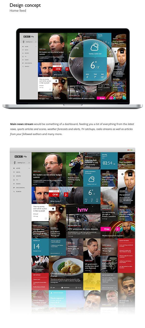 BBC Me concept by Dmitrij Paškevič, via Behance