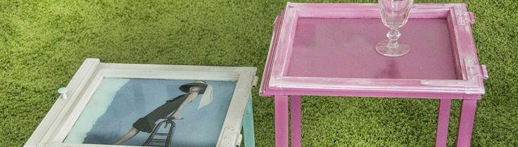 Tische aus alten Fenstern:  Alte Fenster gibt es bei Hausabrissen, auf dem Flohmarkt oder im Sperrmüll zu finden. Was man mit wenig Aufwand daraus machen kann, zeigt euch unsere Miss Do-it-yourself Martina Lammel.