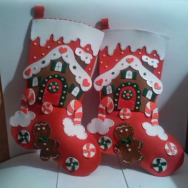 Manualidades TiendasOff: Botas navideñas galletica jengibre