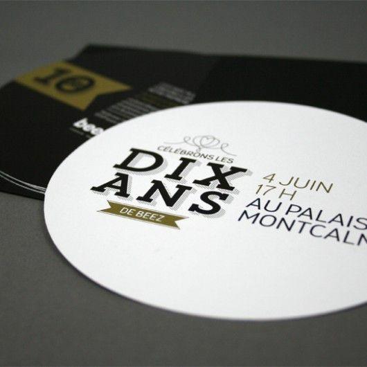 Dix ans de Beez / Carton d'invitation / Beez Créativité Média