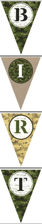 Army Theme Printable Birthday Party Banner by getthepartystarted