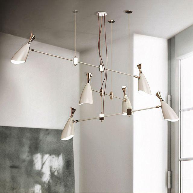 Delightfull герцог Nordic дизайнеры современный творческий вилла соединение этаже гостиная привело люстру