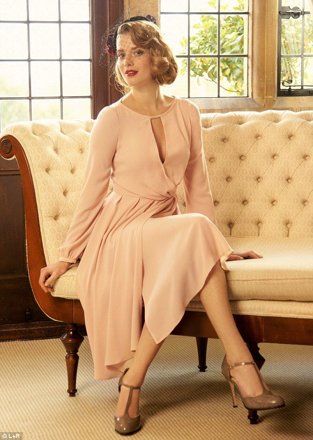 Tara Jarmon dress, £375, Piers Atkinson hat, from a selection, Fenwick, 020 7629 9161. T-bar shoes, £125, lkbennett.com