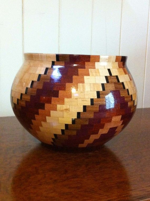 Natural Wood Segmented Fine Art  Bowl  Arachnae by KaveBowls, $345.00