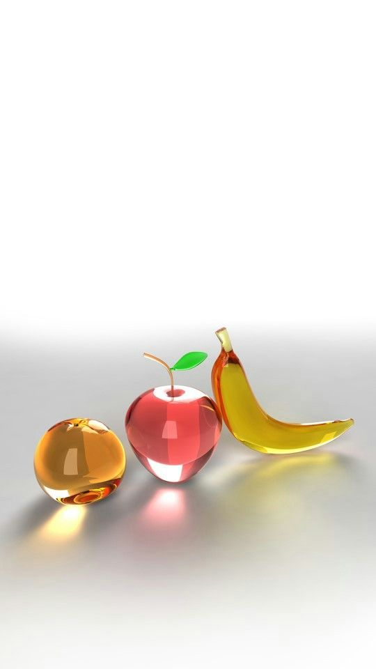 Glass fruit.