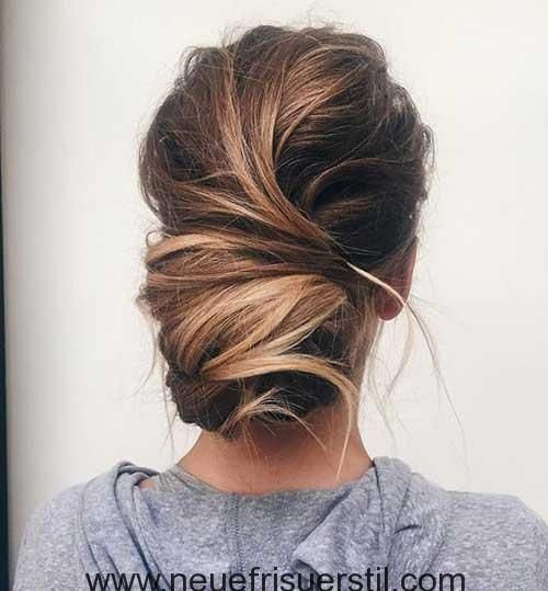 Messy Low Bun hairstyles for ladies