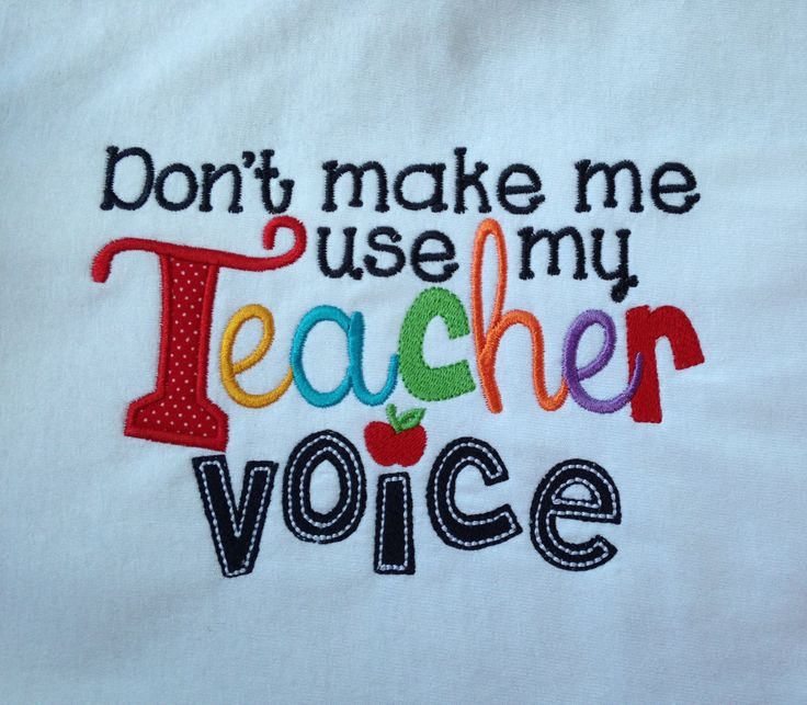 Teacher t shirt Don't make me use my Teacher Voice by KreativeImpressions1 on Etsy https://www.etsy.com/listing/240669614/teacher-t-shirt-dont-make-me-use-my