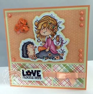 """High Hopes Stamps - SNEAK PEEK - """"Love Blooms Here"""" by Lora using High Hopes new Spring Collection release """"Blooming Friends"""" & sentiment """"Love Blooms Here"""""""