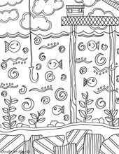 Summer coloring pages - tons of beautiful, intricate coloring pages by theme