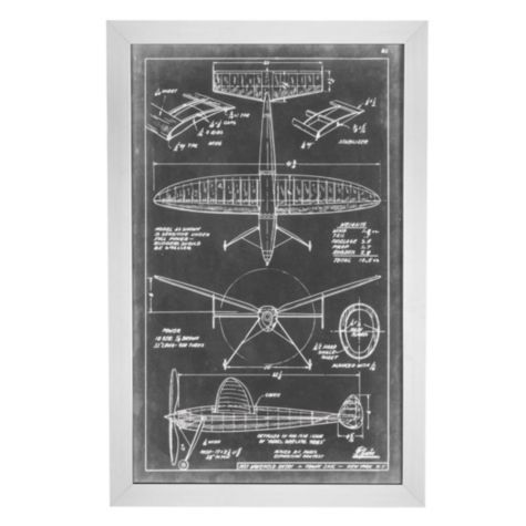 Aero Blueprint 3 | Planes-trains-machines | Art-themes | Art | Z Gallerie
