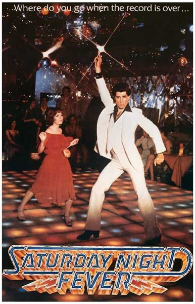 Hit the dance floor with John Travolta in this poster for the film that launched…