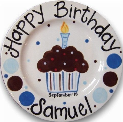 Love the idea of a special birthday plate that is used by the birthday boy/girl. Can be make with sharpies (bake after at 350 for 30 minutes.)