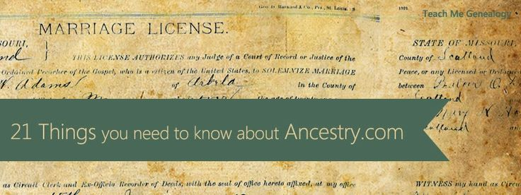 21 Things You Need To Know About Ancestry.com ~ Teach Me Genealogy