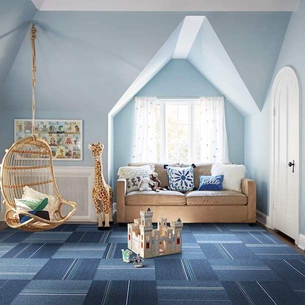 Milliner Striped Carpets Kid Spaces Wall Design