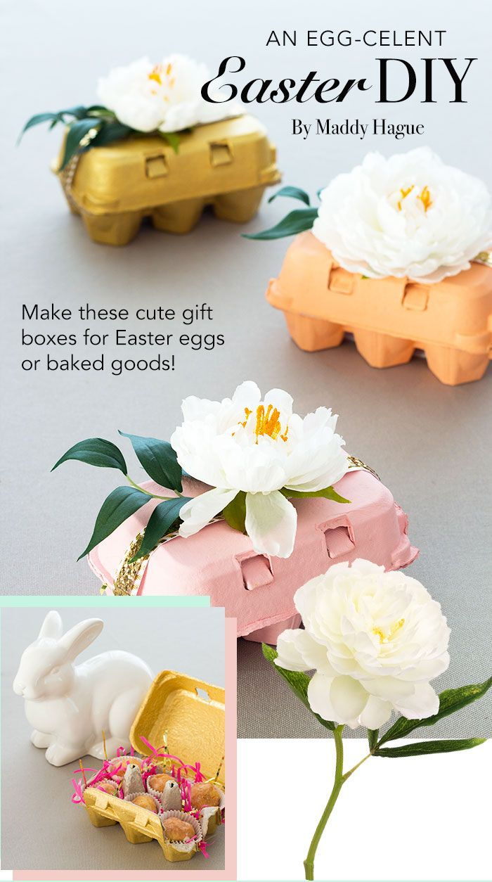 Make these adorable spring gift boxes as Easter gifts or a guest gift at your spring wedding! DIY and design by Maddy Hague  #diywedding