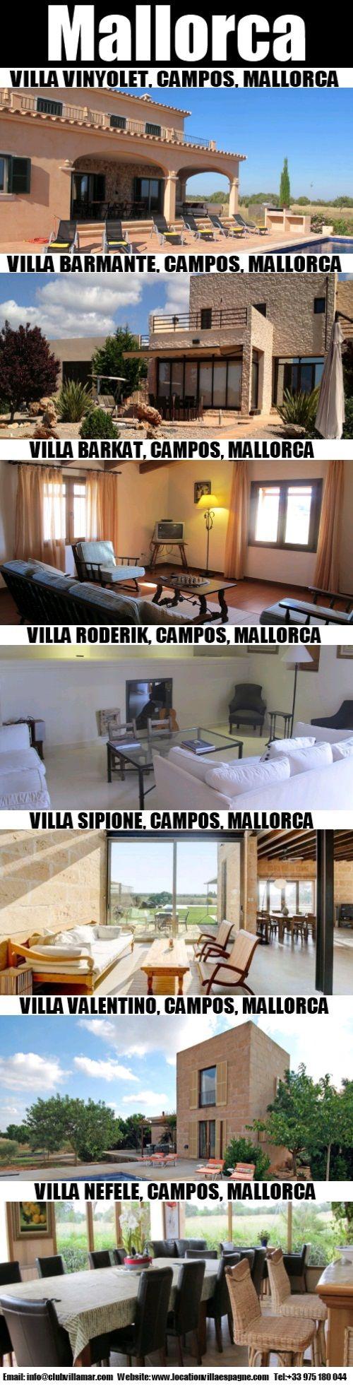 Villas à Majorque a beaucoup d'espace et climatisation centrale. L'hébergement est généralement composé d'un salon, salle à manger, chambre à coucher avec salle de bains, salle de bains avec douche et baignoire.
