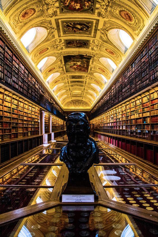 Biblioteca del Palacio de Luxemburgo, París, Francia.